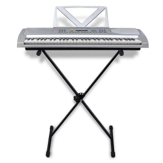 shumee Zestaw Keyboard elektryczny 61 klawiszy+statyw na nuty+statyw