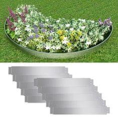shumee Set 10 kosov ograde iz fleksibilnega pocinkanega jekla 100 x 15 cm