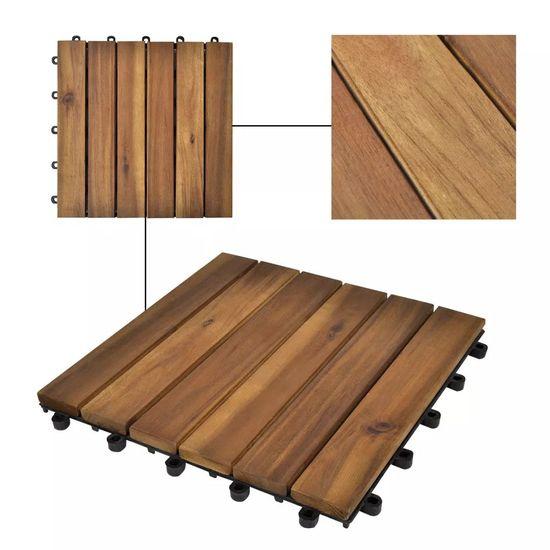 shumee Akáciová sada podlahových krytín s vertikálnym vzorom 30x30 cm 20 ks