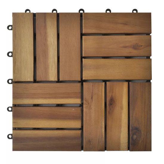 shumee Akáciová sada podlahových krytín 30x30 cm 30 ks