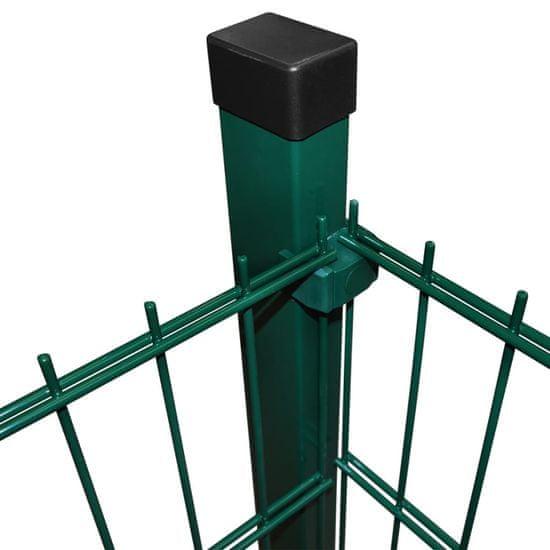 shumee 2D Ograjne plošče in stebri 2008x1230 mm 44 m zelene barve