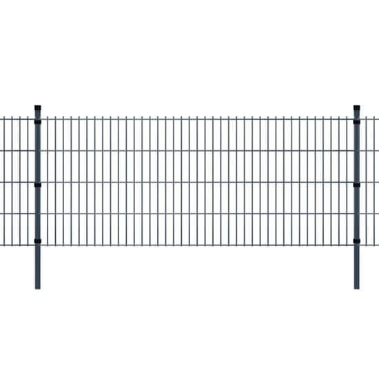 shumee Panele ogrodzeniowe 2D z słupkami - 2008x830 mm 34 m Szare