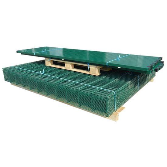 shumee 2D Panele i słupki ogrodzeniowe 2008x1830 mm 34 m zielone
