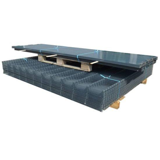 shumee 2D Plotové panely a stĺpy 2008x1630 mm 4 m sivá