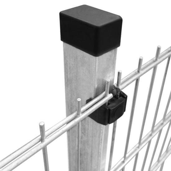 shumee Panele ogrodzeniowe 2D z słupkami - 2008x830 mm 36 m Srebrne