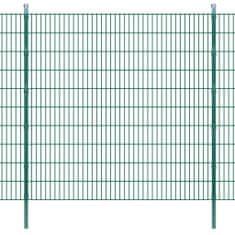 shumee 2D ograjne plošče s stebri - 2008x2030mm 20m zelena