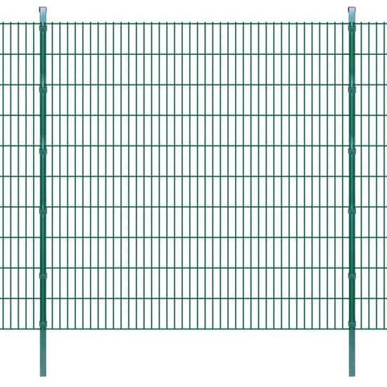 shumee Panele ogrodzeniowe 2D ze słupkami, 2008x2030 mm, 46 m, zielone