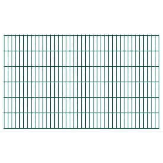 shumee Panele ogrodzeniowe 2D, 2,008 x 1,23 m, 50 m, zielone
