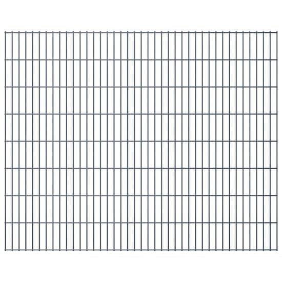 shumee Panele ogrodzeniowe 2D, 2,008 x 1,63 m, 30 m, szare