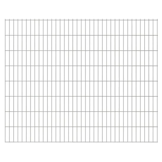 shumee Panele ogrodzeniowe 2D, 2,008 x 1,63 m, 14 m, srebrne