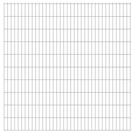 shumee Panele ogrodzeniowe 2D, 2,008 x 2,03 m, 28 m, srebrne