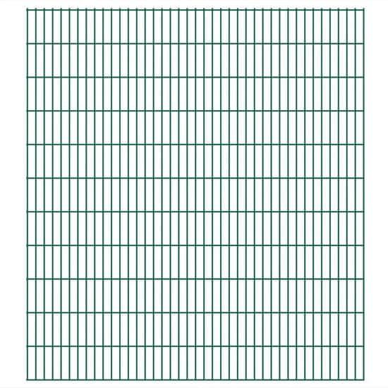 shumee Panele ogrodzeniowe 2D, 2,008 x 2,23 m, 12 m, zielone