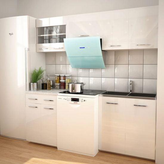 shumee kuhinjski set s pokrovom, 5-delni visok sijaj, bela