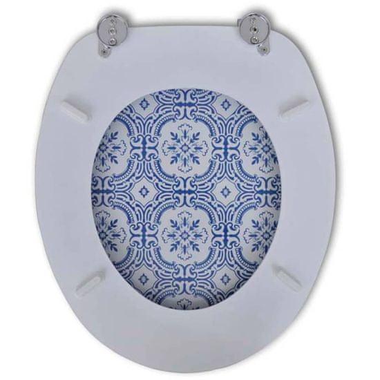 shumee 2 db porcelán mintájú MDF WC ülőke