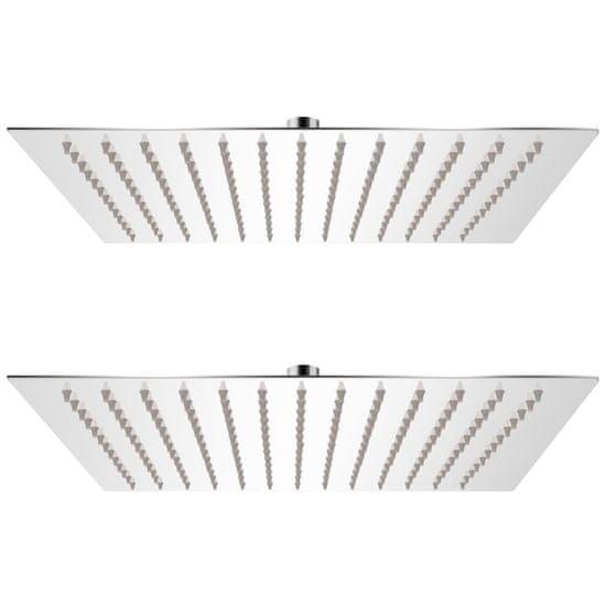 shumee 2 db rozsdamentes acél esőztető zuhanyfej 25 x 25 cm