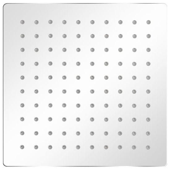 shumee 2 db rozsdamentes acél esőztető zuhanyfej 20 x 20 cm