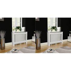shumee Pokrovi za radiatorje 2 kosa MDF 112 cm beli
