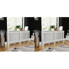 shumee Pokrovi za radiatorje 2 kosa MDF 172 cm beli