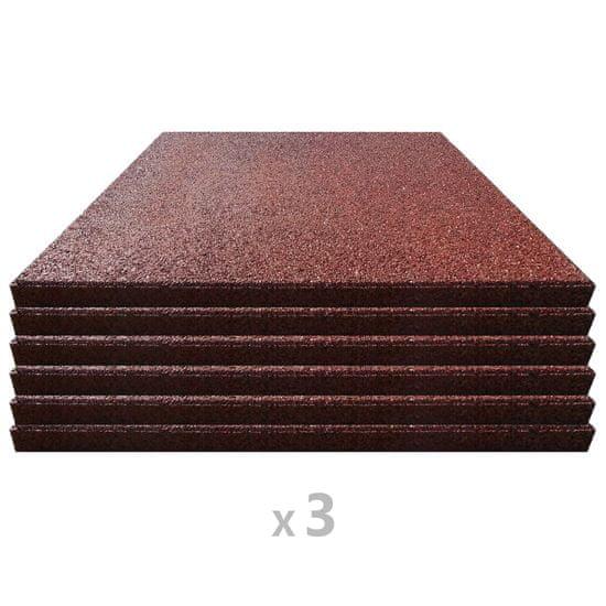 shumee 18 darab piros esésvédő, ütéscsillapító gumilap 50 x 50 x 3 cm