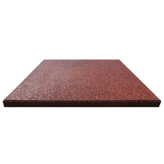 shumee Gumowe płyty, 24 szt., 50 x 50 x 3 cm, czerwone