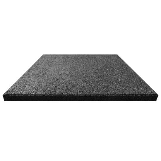 shumee Gumowe płyty, 12 szt., 50 x 50 x 3 cm, czarne