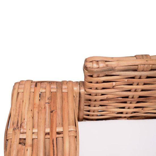 shumee 2 darabos természetes rattan kerti ülőgarnitúra