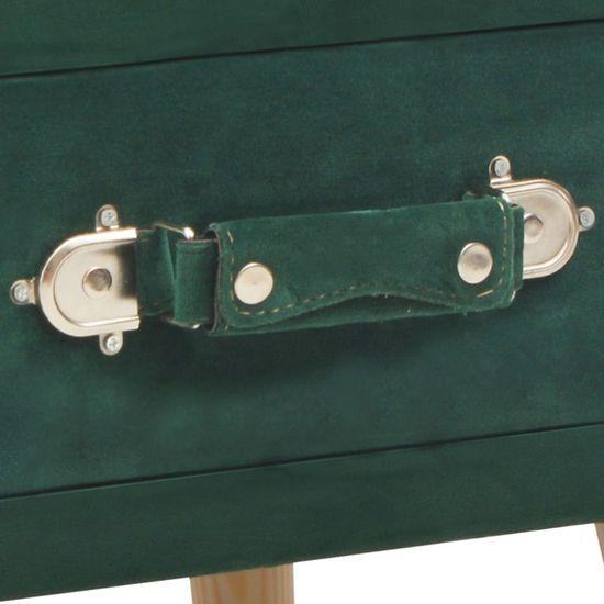 shumee Szafka nocna, zielona, 40x35x40 cm, aksamitna