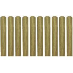 shumee 20 impregnowanych sztachet, drewno, 60 cm