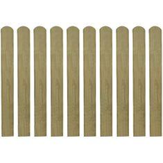 shumee 20 impregnowanych sztachet drewnianych, 80 cm
