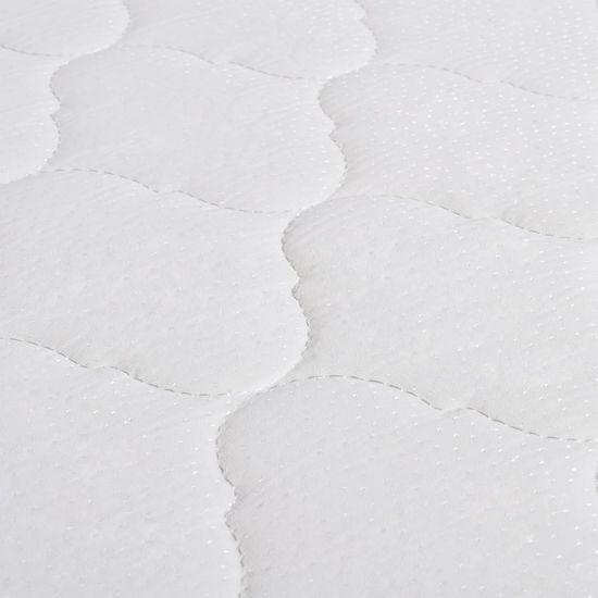 shumee Postelja z vzmetnico iz spominske pene moder žamet 140x200 cm
