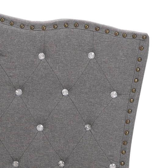 shumee Postelja z vzmetnico iz sp. pene svetlo sivo blago 90x200 cm