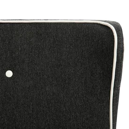 shumee Posteljni okvir temno sivo platno 90x200 cm