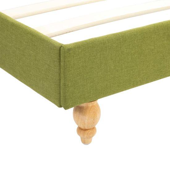 shumee Posteljni okvir zeleno blago 120x200 cm