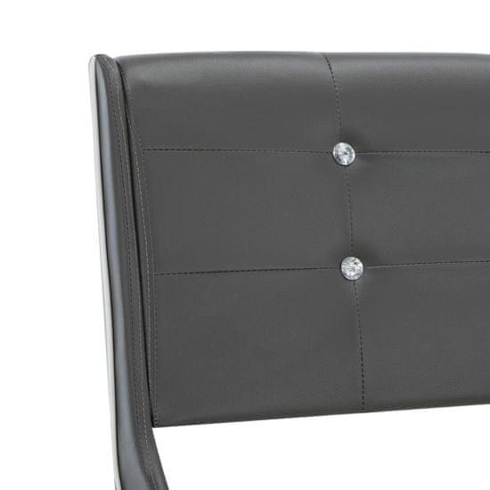 shumee szürke műbőr ágykeret 140 x 200 cm