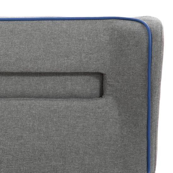shumee Posteljni okvir z LED osvetlitvijo svetlo sivo blago 160x200 cm