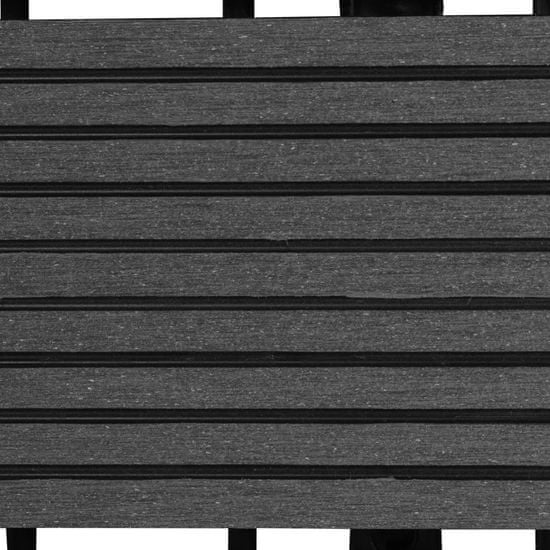 shumee Talne plošče 22 kosov 30x30 cm 2 m² WPC sive