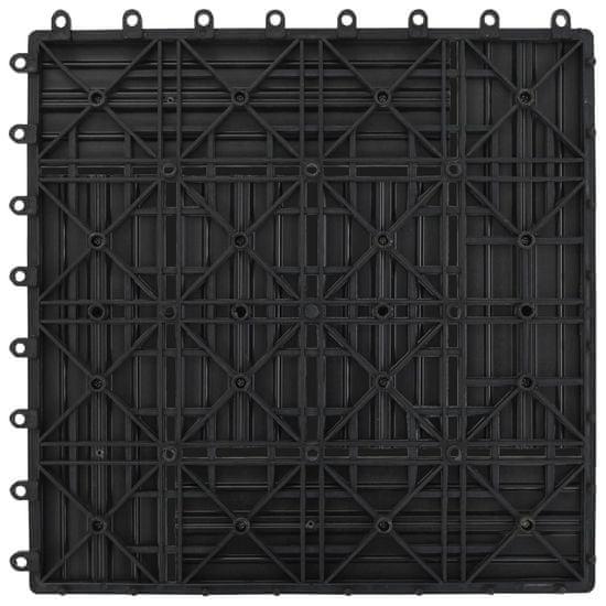 shumee Szürke 11 db 30 x 30 cm-es padló csempe WPC 1 m²