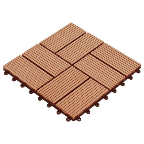 shumee Talne plošče 22 kosov 30x30 cm 2 m² WPC barva tikovine