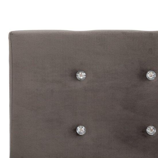 shumee Postelja z vzmetnico siv žamet 120x200 cm