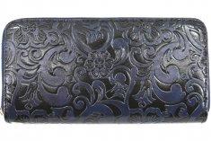 Arteddy Dámská / dívčí peněženka pouzdrového typu s květovaným vzorem - tmevě modrá