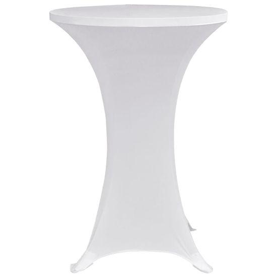 shumee Pokrowce na stół barowy, Ø 80 cm, białe, elastyczne, 4 szt.