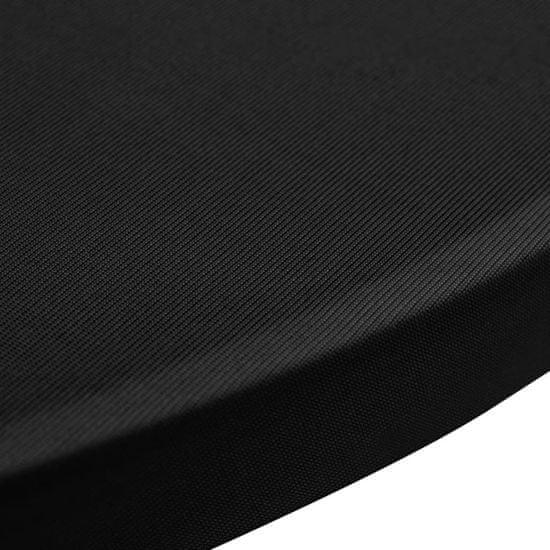 shumee Obrusy na stojaci stôl 4 ks čierne Ø70 cm naťahovacie