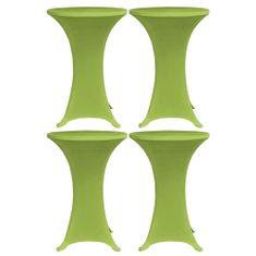 Greatstore Raztegljivo pregrinjalo za mizo 4 kosi 70 cm zeleno