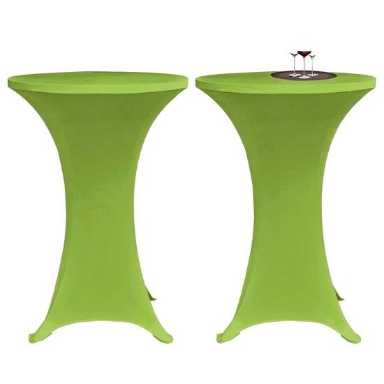 shumee Elastyczne pokrowce na stół, 4 szt., 70 cm, zielone