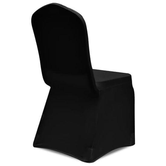 shumee Elastyczne pokrowce na krzesła, czarne, 12 szt.