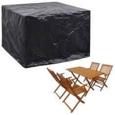 shumee Pokrivalo za vrtno pohištvo z 8 obročki 122x112x98 cm