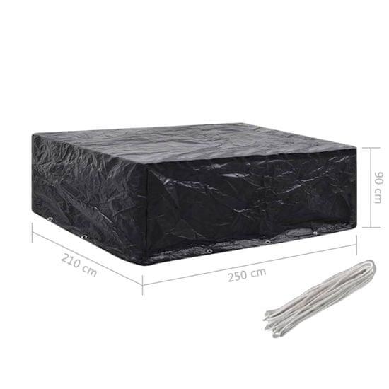 shumee 2 db kertibútor-huzat 8 fűzőlyukkal 250 x 210 x 90 cm