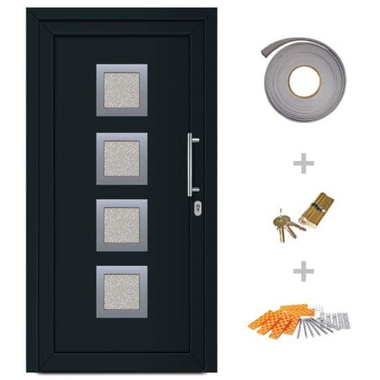 shumee Drzwi wejściowe zewnętrzne, antracytowe, 108 x 200 cm
