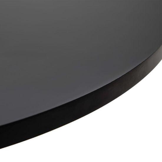 shumee 3-częściowy zestaw mebli barowych, sztuczna skóra, czarny
