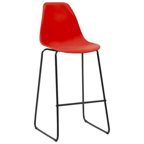 shumee 5dílný barový set plast červený